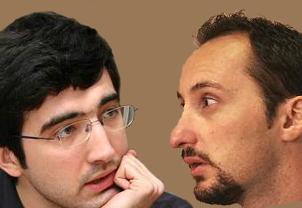 Vladimir Kramnik and Veselin Topalov