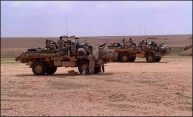 US Army in Iraqi Desert